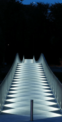 picture of a well lighted walk way by stallion vision